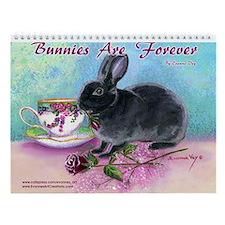 Bunny Rabbit Art Wall Calendar