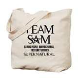 Team Sam Supernatural Tote Bag