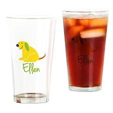 Ellen Loves Puppies Drinking Glass