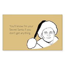 Giftless Secret Santa Sticker (Rectangle)