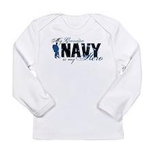 Grandpa Hero3 - Navy Long Sleeve Infant T-Shirt