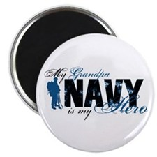 Grandpa Hero3 - Navy Magnet