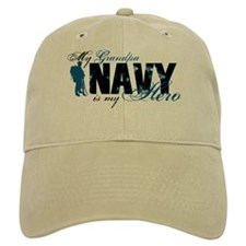 Grandpa Hero3 - Navy Baseball Cap