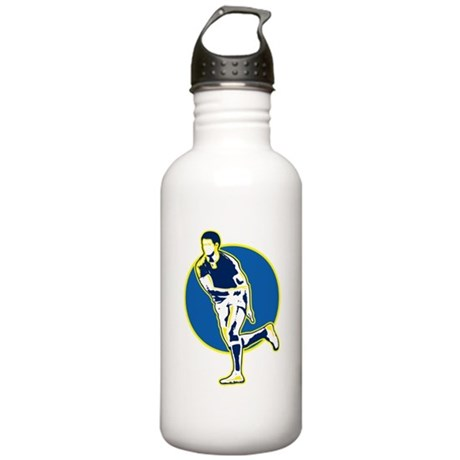 rugby player retro Stainless Water Bottle 1.0L