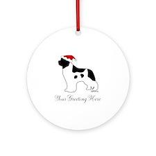 Landseer Santa - Your Text Ornament (Round)