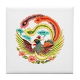 Asian Dragon or Phoenix Tile Coaster