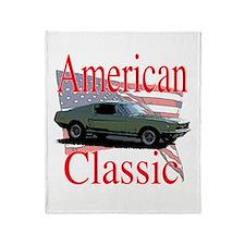 67 Mustang Fastback Throw Blanket
