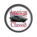 67 Mustang Fastback Wall Clock
