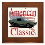 67 Mustang Fastback Framed Tile