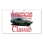 67 Mustang Fastback Sticker (Rectangle)