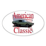 67 Mustang Fastback Sticker (Oval)