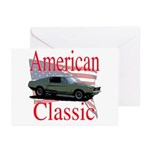 67 Mustang Fastback Greeting Cards (Pk of 20)