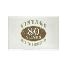 Vintage 80th Birthday Rectangle Magnet (10 pack)