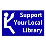 Support Your Local Library Bumper Sticker