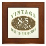 Vintage 85th Birthday Framed Tile
