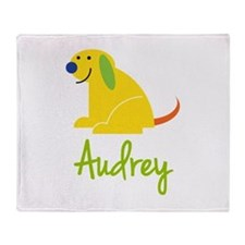 Audrey Loves Puppies Throw Blanket