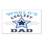 World's Coolest Dad Rectangle Sticker