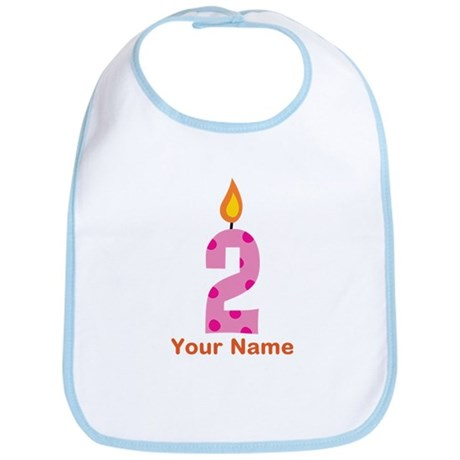 Custom 2nd Birthday Candle Bib