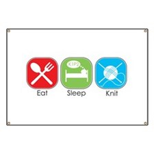 Eat Sleep Knit Banner