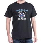 World's Coolest Dad Black T-Shirt