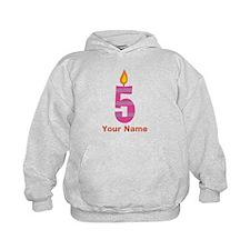 Custom 5th Birthday Candle Hoodie