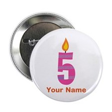 "Custom 5th Birthday Candle 2.25"" Button"