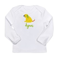 Agnes Loves Puppies Long Sleeve Infant T-Shirt