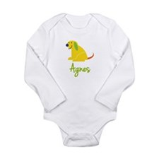 Agnes Loves Puppies Long Sleeve Infant Bodysuit