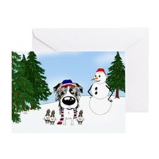 Aussie Snow Greeting Card