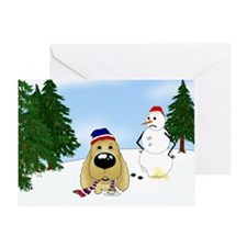 Cocker Spaniel Snow Greeting Card