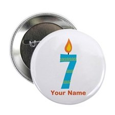 "Custom 7th Birthday Candle 2.25"" Button"