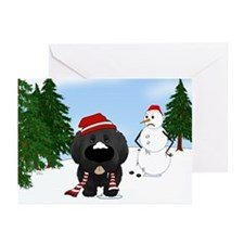 Newfie Winter Wonderland Greeting Cards (Pk of 10)