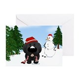 Newfie Winter Wonderland Greeting Cards (Pk of 20)