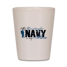 Granddaughter Hero3 - Navy Shot Glass