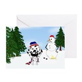 Dalmatian Snow Greeting Card