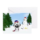 Dalmatian Snow Greeting Cards (Pk of 10)