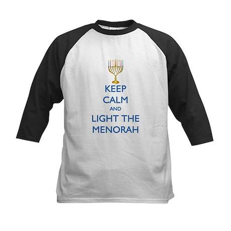 Keep Calm and Light the Menorah Kids Baseball Jers