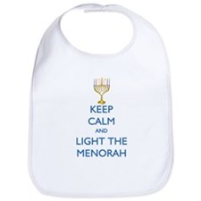 Keep Calm and Light the Menorah Bib
