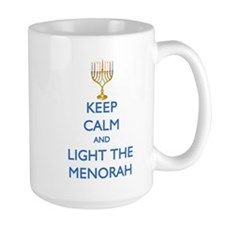 Keep Calm and Light the Menorah Mug