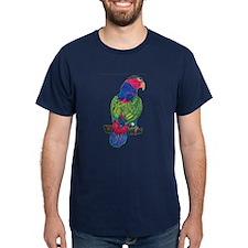 Pionus Parrot Black T-Shirt