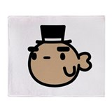 Goldfish With Top Hat Throw Blanket