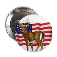 "American White Tail Deer Buck 2.25"" Button (100 pa"