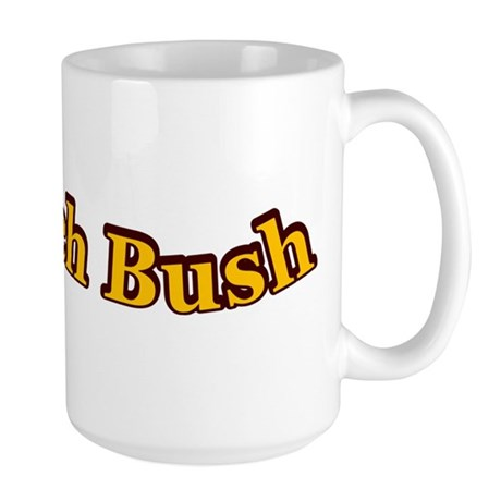 Retro Impeach Bush Large Mug