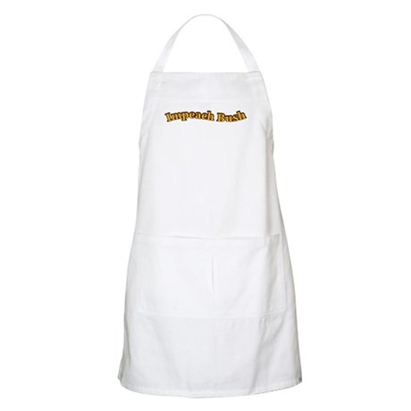 Retro Impeach Bush BBQ Apron