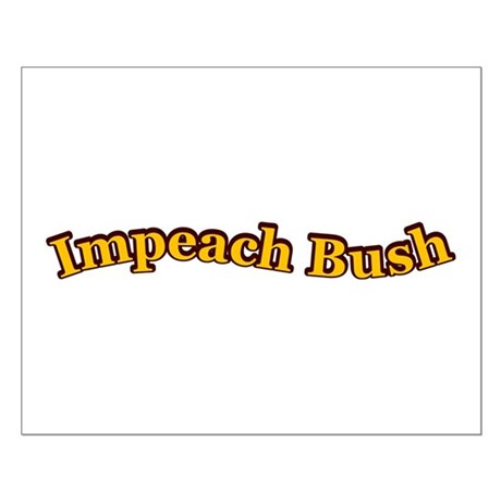 Retro Impeach Bush Small Poster