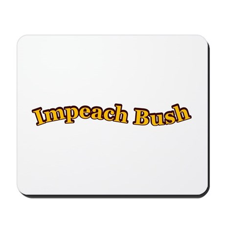 Retro Impeach Bush Mousepad