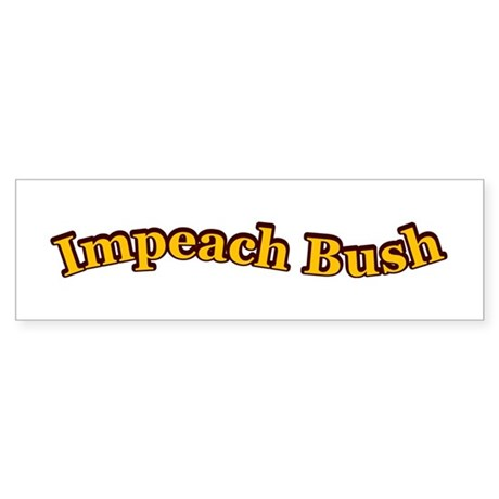 Retro Impeach Bush Bumper Sticker