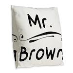 Crimson AL Throw Pillow