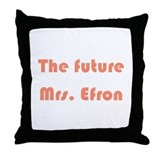 The Future Mrs. Efron Throw Pillow