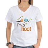 I\'m a hoot Womens V-Neck T-shirts